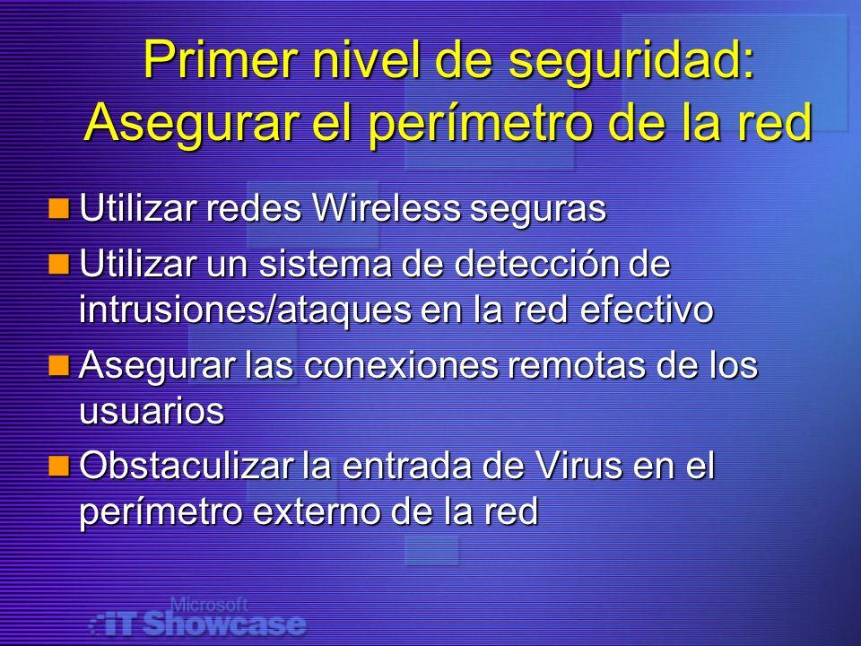 Primer nivel de seguridad: Asegurar el perímetro de la red