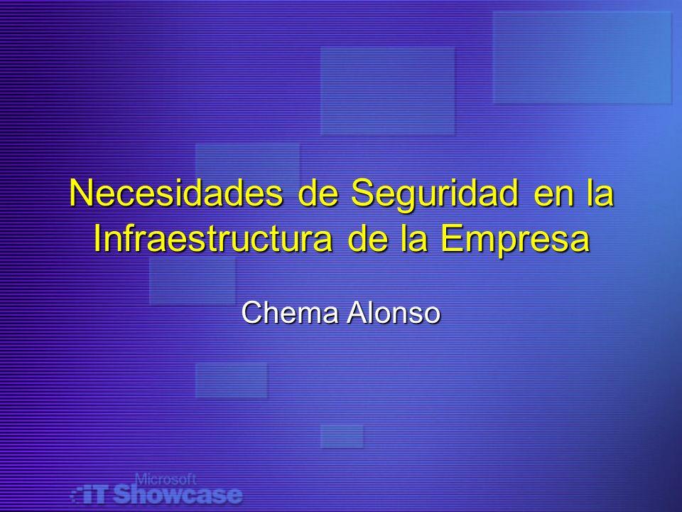 Necesidades de Seguridad en la Infraestructura de la Empresa