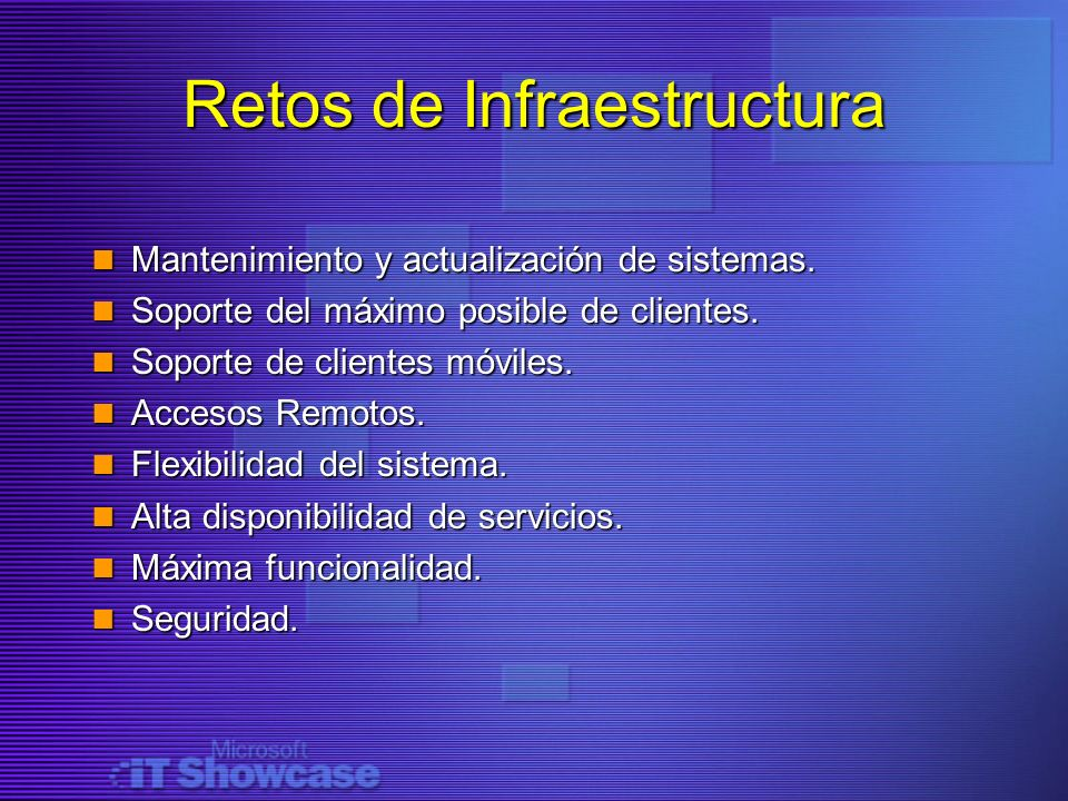 Retos de Infraestructura