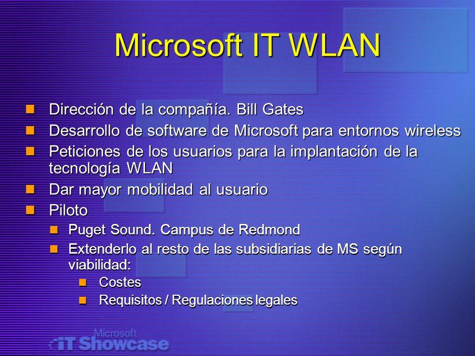 Microsoft IT WLAN Dirección de la compañía. Bill Gates