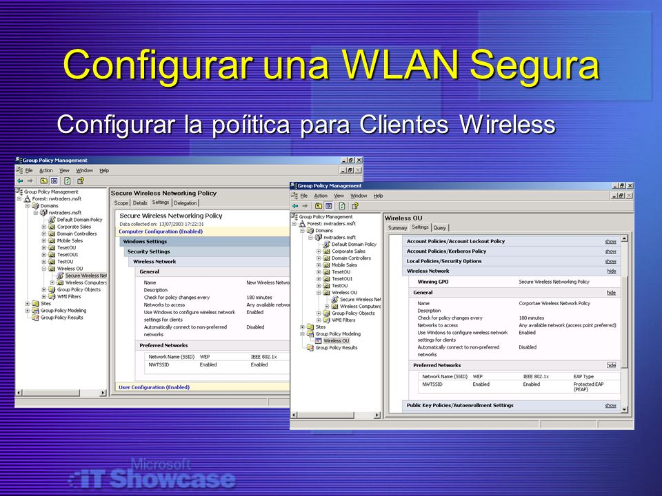 Configurar una WLAN Segura
