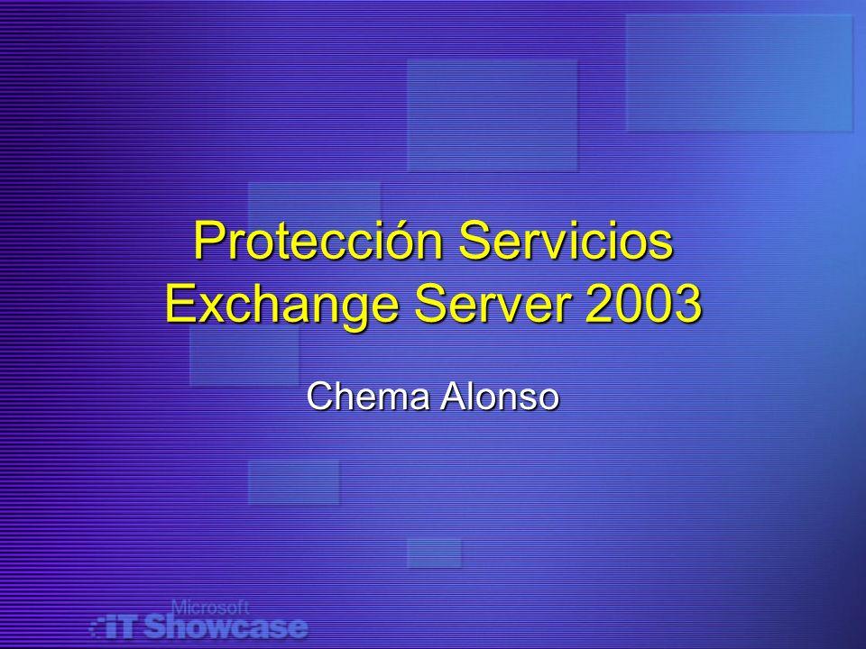 Protección Servicios Exchange Server 2003