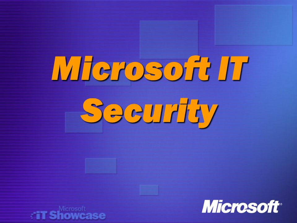 Microsoft IT Security