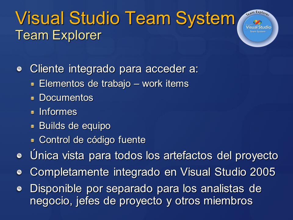 Visual Studio Team System Team Explorer