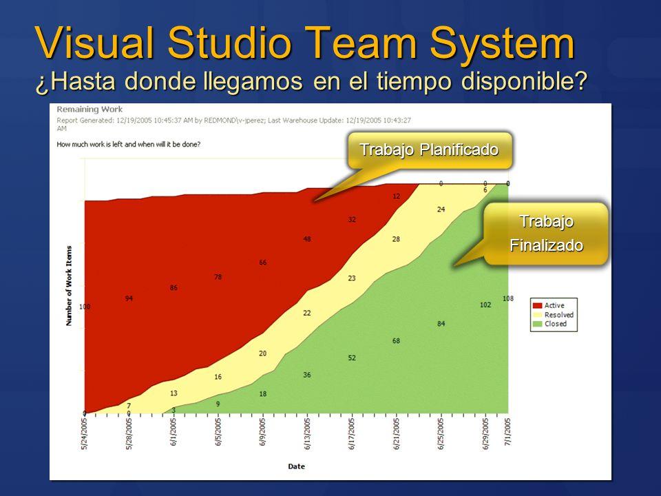 Visual Studio Team System ¿Hasta donde llegamos en el tiempo disponible