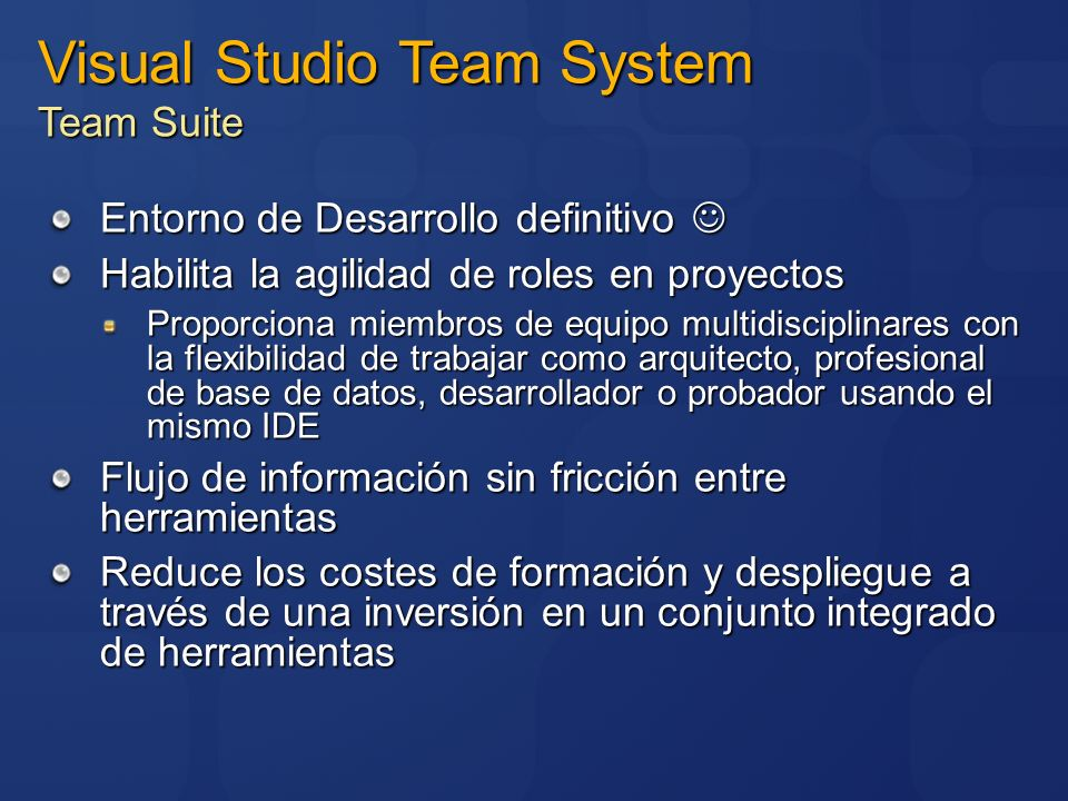 Visual Studio Team System Team Suite