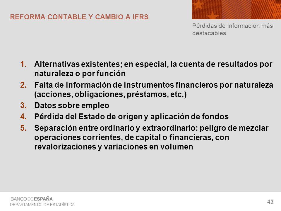 REFORMA CONTABLE Y CAMBIO A IFRS