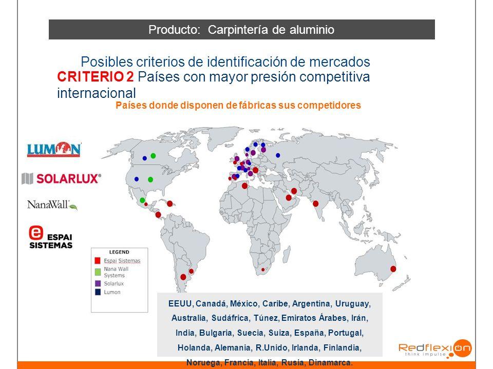 Países donde disponen de fábricas sus competidores