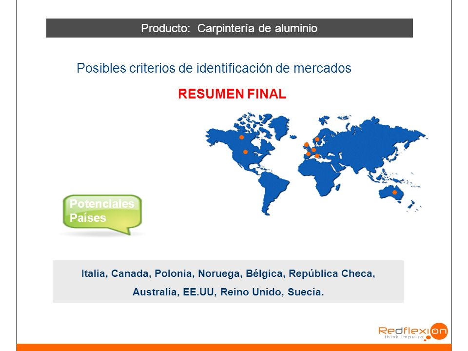 Producto: Carpintería de aluminio