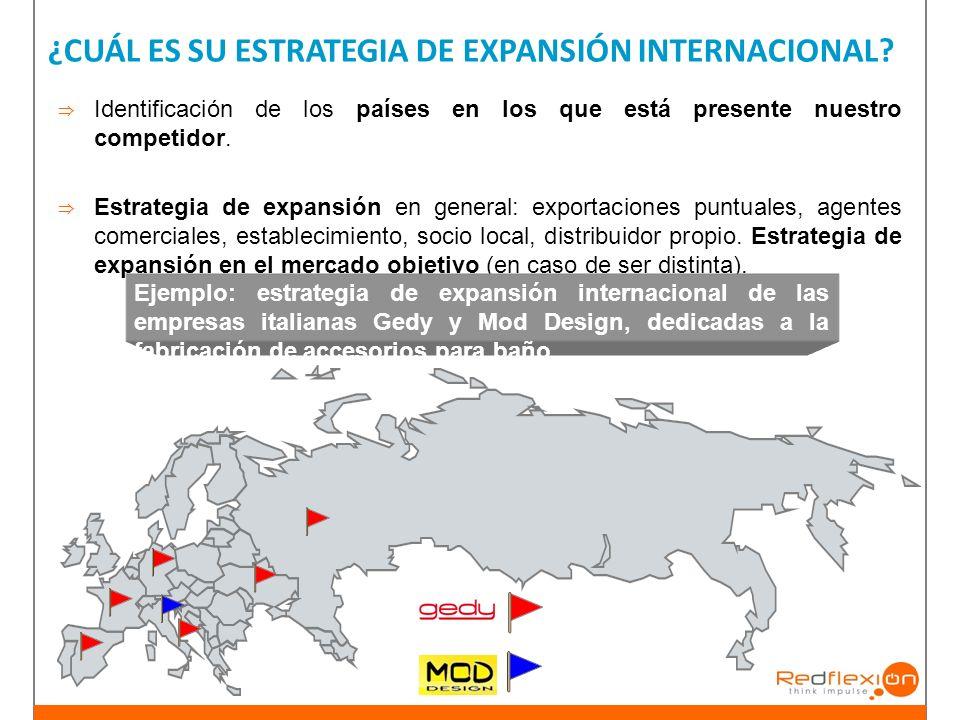 ¿CUÁL ES SU ESTRATEGIA DE EXPANSIÓN INTERNACIONAL