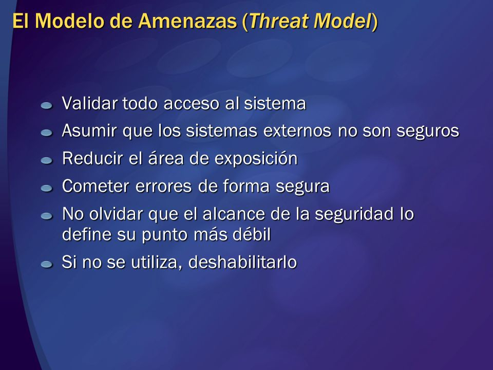 El Modelo de Amenazas (Threat Model)
