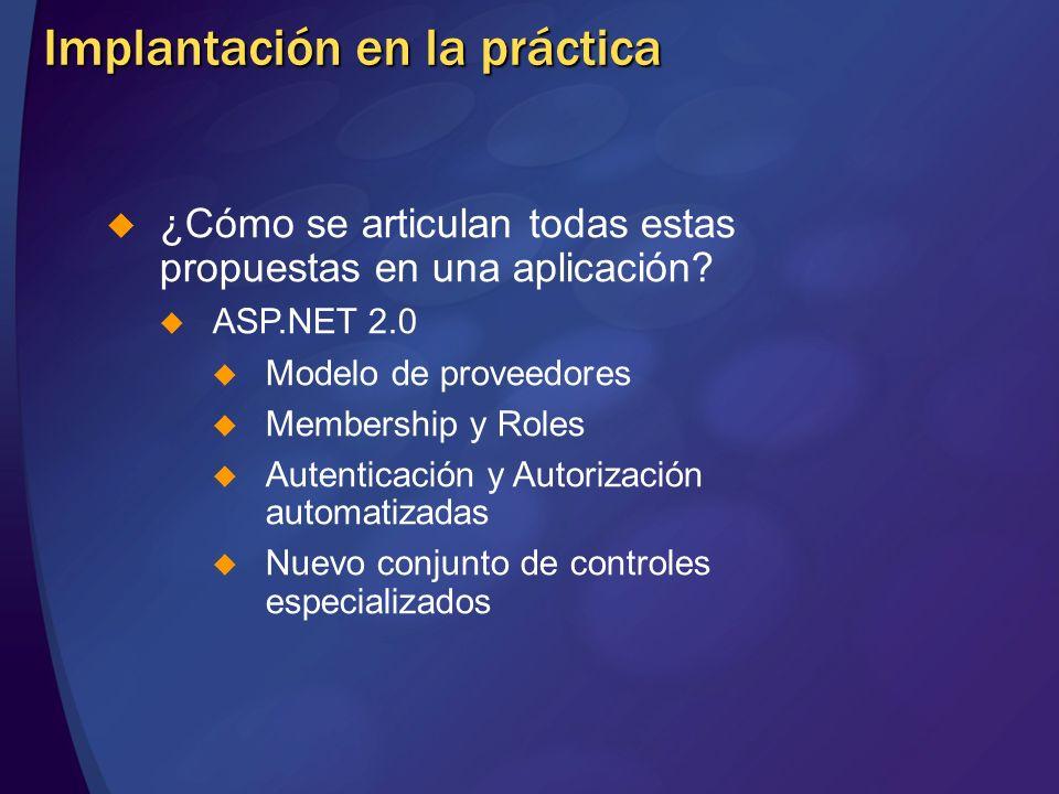 Implantación en la práctica