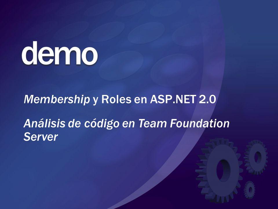 Membership y Roles en ASP.NET 2.0