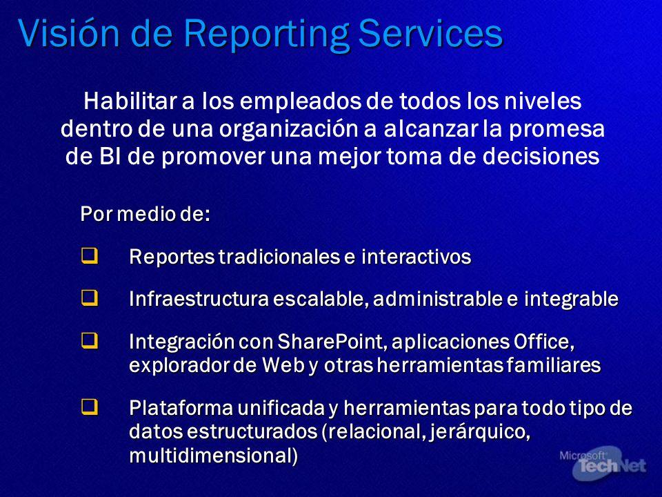 Visión de Reporting Services