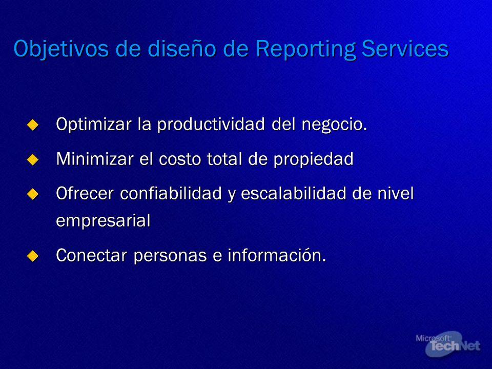 Objetivos de diseño de Reporting Services