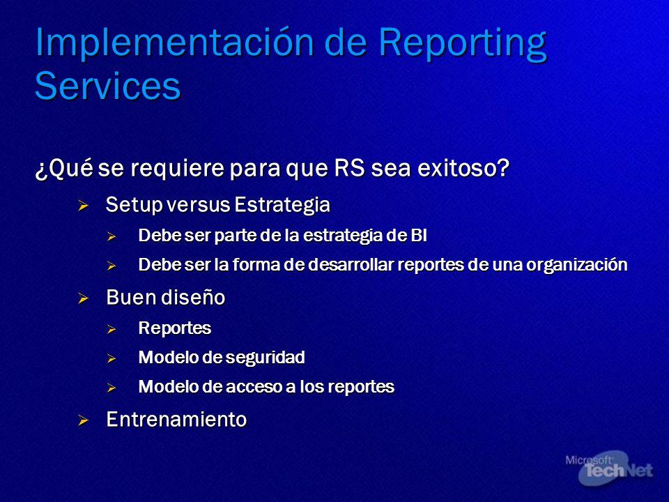 Implementación de Reporting Services
