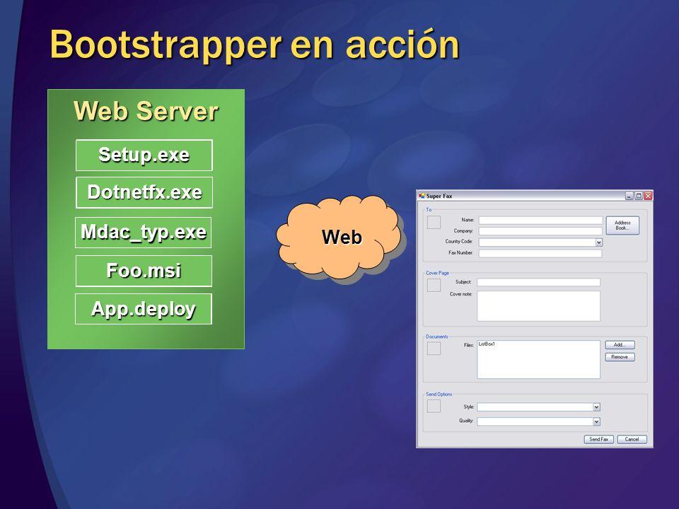Bootstrapper en acción