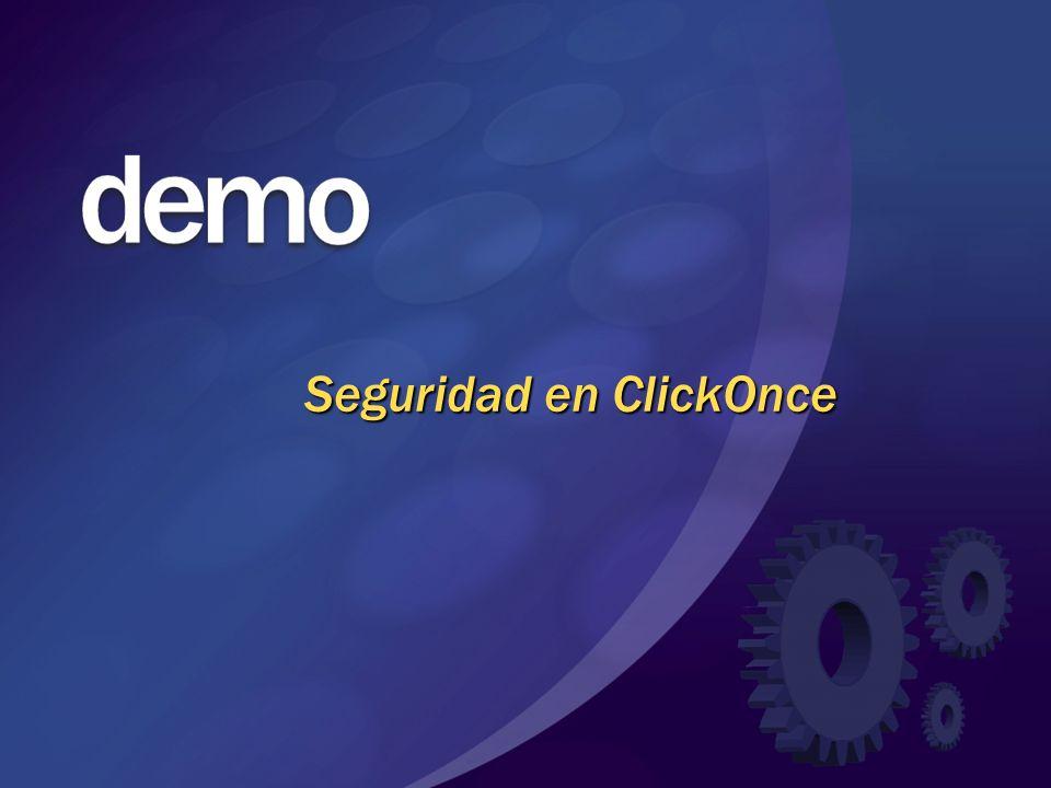 Seguridad en ClickOnce