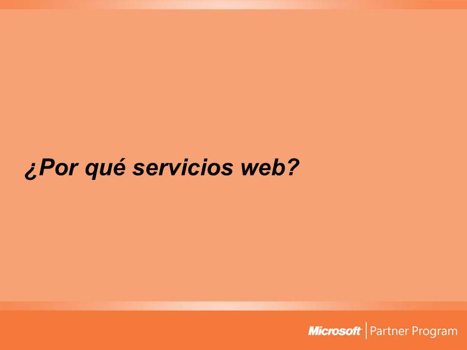 ¿Por qué servicios web