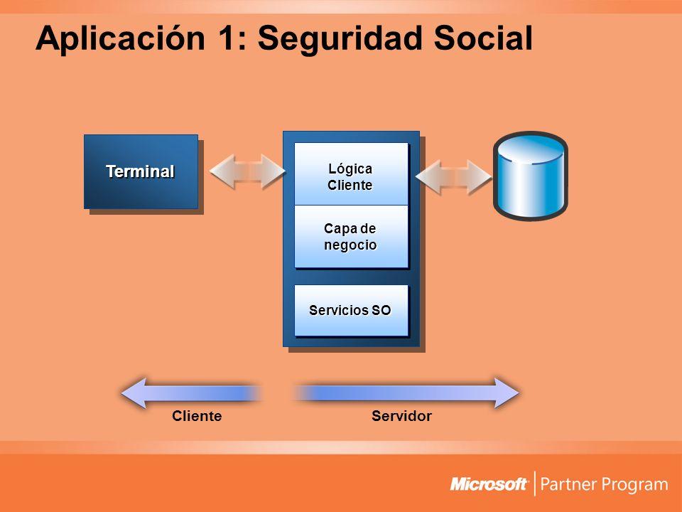 Aplicación 1: Seguridad Social