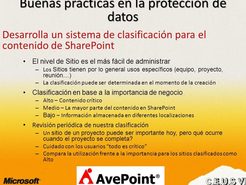 Buenas prácticas en la protección de datos