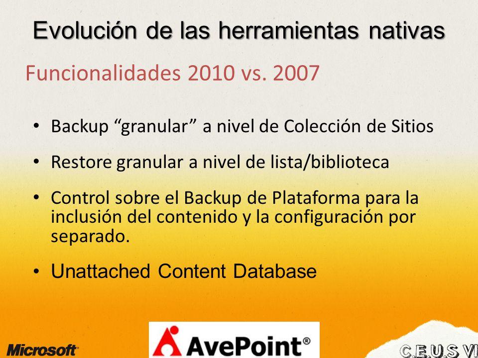 Evolución de las herramientas nativas