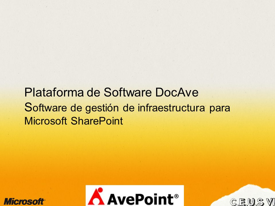 Plataforma de Software DocAve Software de gestión de infraestructura para Microsoft SharePoint