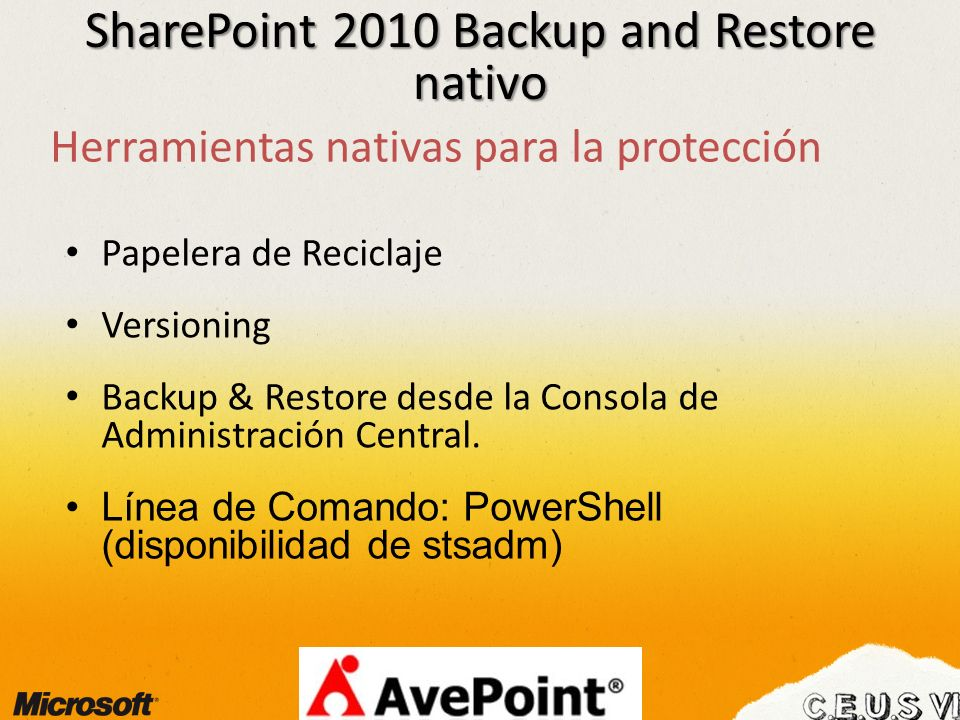 SharePoint 2010 Backup and Restore nativo