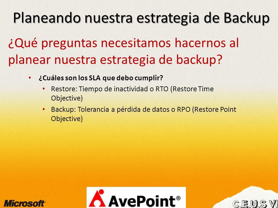 Planeando nuestra estrategia de Backup