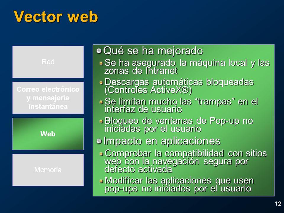 Vector web Qué se ha mejorado Impacto en aplicaciones