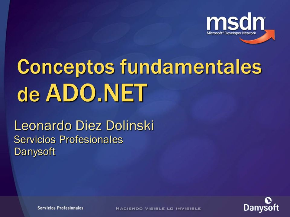 Conceptos fundamentales de ADO.NET