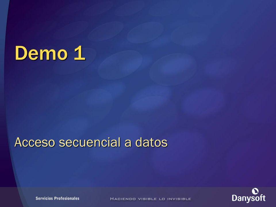 Acceso secuencial a datos