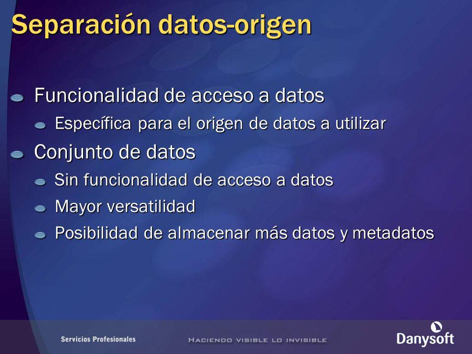 Separación datos-origen