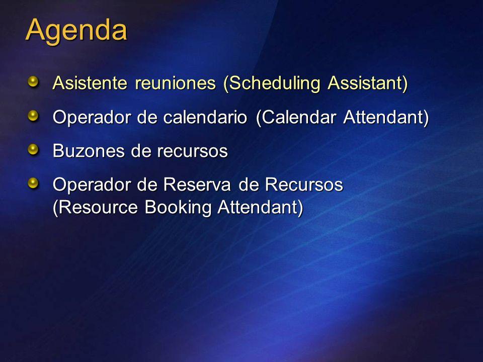 Agenda Asistente reuniones (Scheduling Assistant)