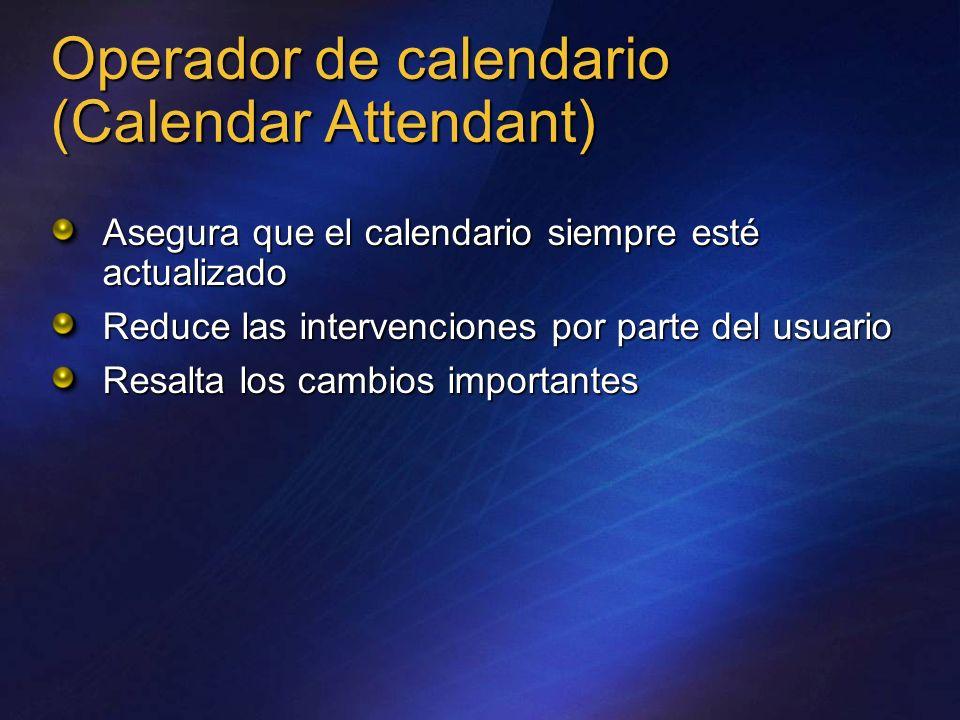 Operador de calendario (Calendar Attendant)