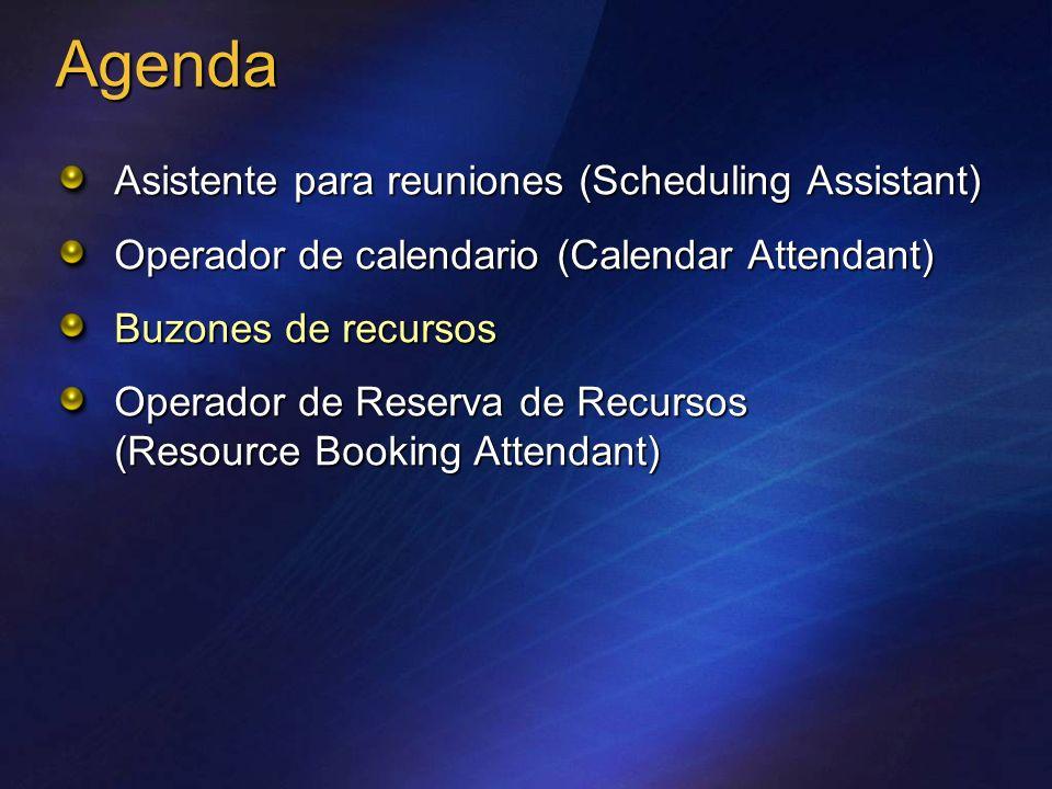 Agenda Asistente para reuniones (Scheduling Assistant)