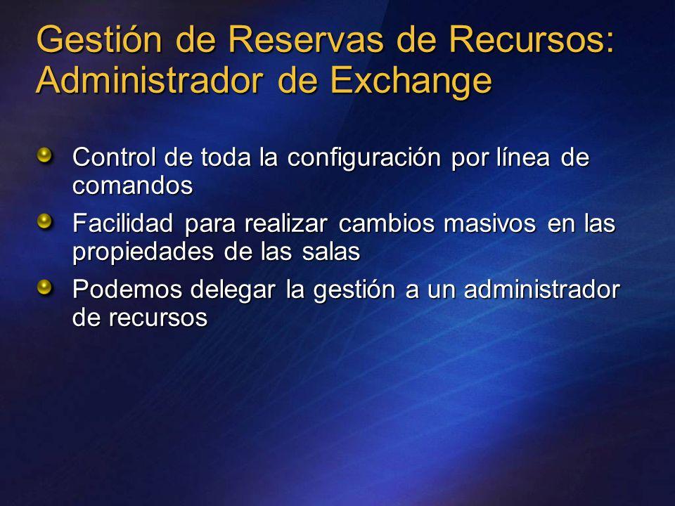 Gestión de Reservas de Recursos: Administrador de Exchange