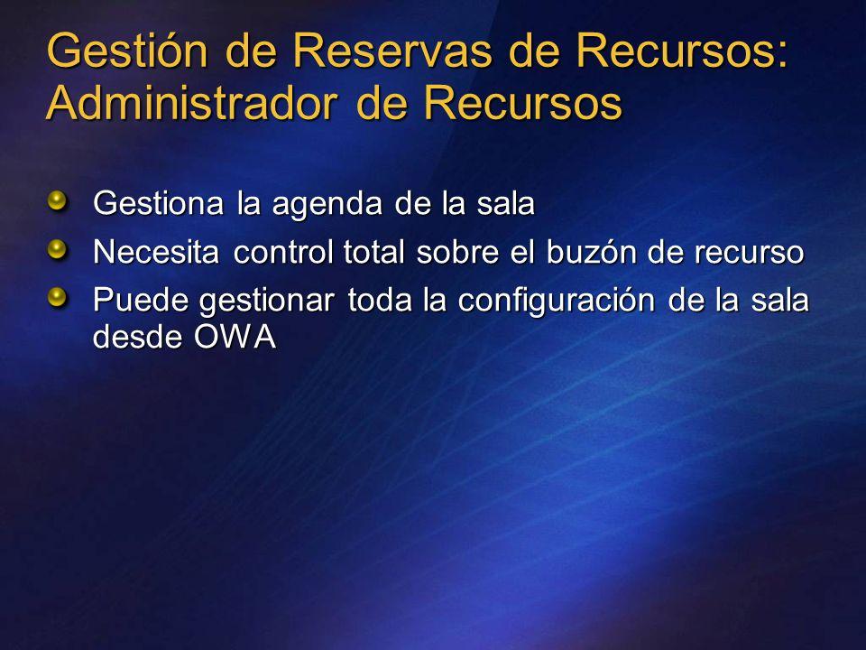 Gestión de Reservas de Recursos: Administrador de Recursos