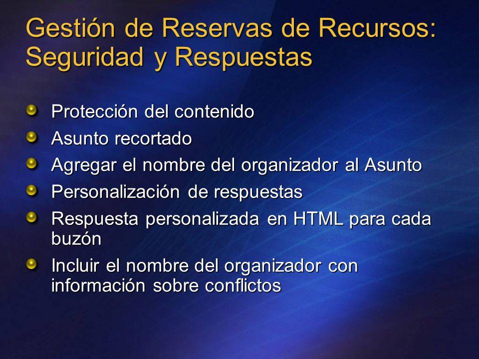 Gestión de Reservas de Recursos: Seguridad y Respuestas