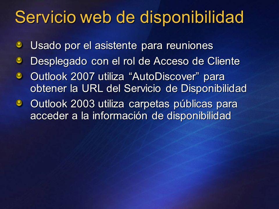 Servicio web de disponibilidad