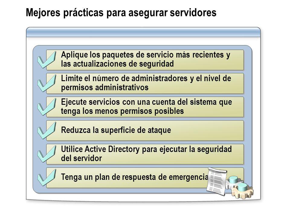 Mejores prácticas para asegurar servidores