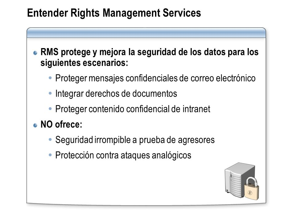 Entender Rights Management Services