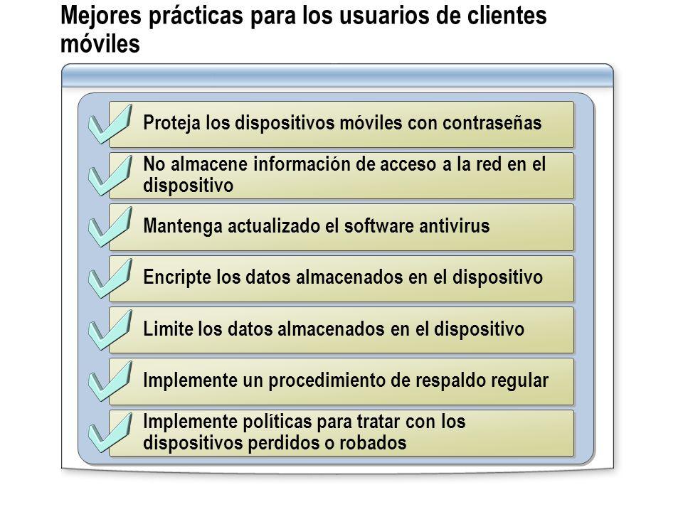 Mejores prácticas para los usuarios de clientes móviles