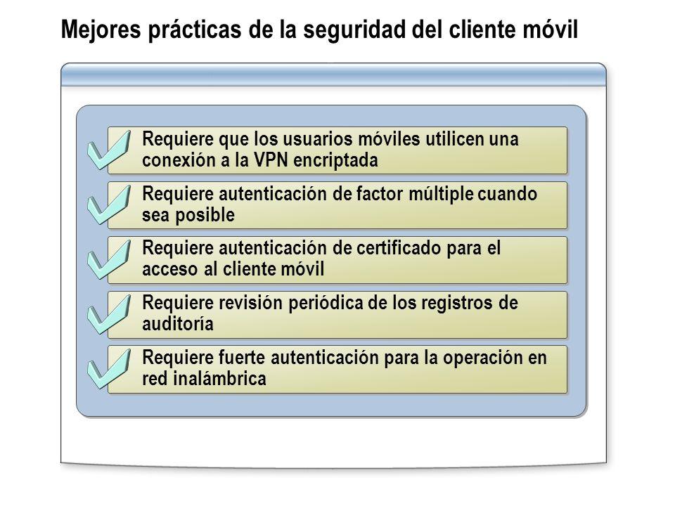 Mejores prácticas de la seguridad del cliente móvil