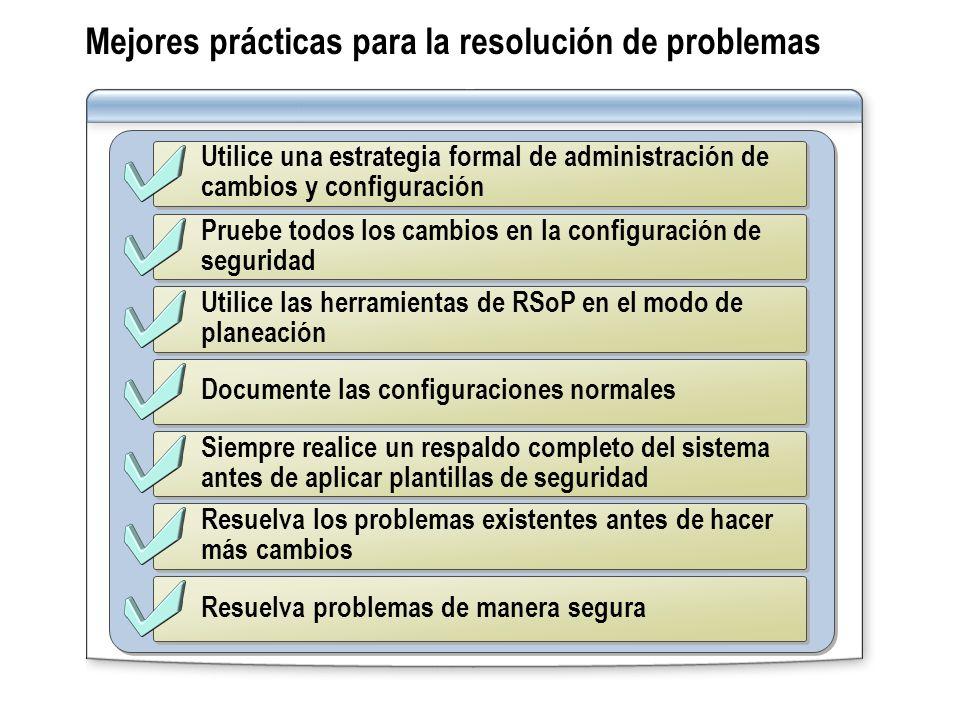Mejores prácticas para la resolución de problemas