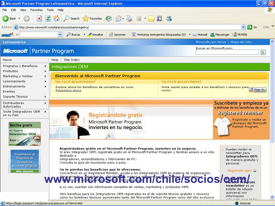 www.microsoft.com/chile/socios/oem/ Productos