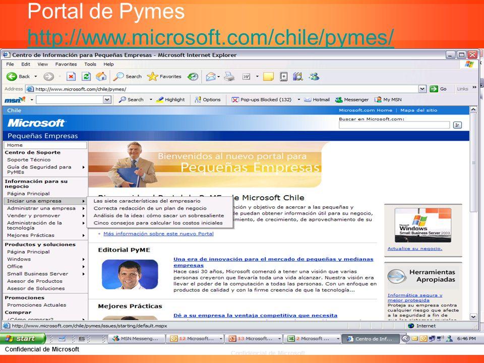 Portal de Pymes http://www.microsoft.com/chile/pymes/