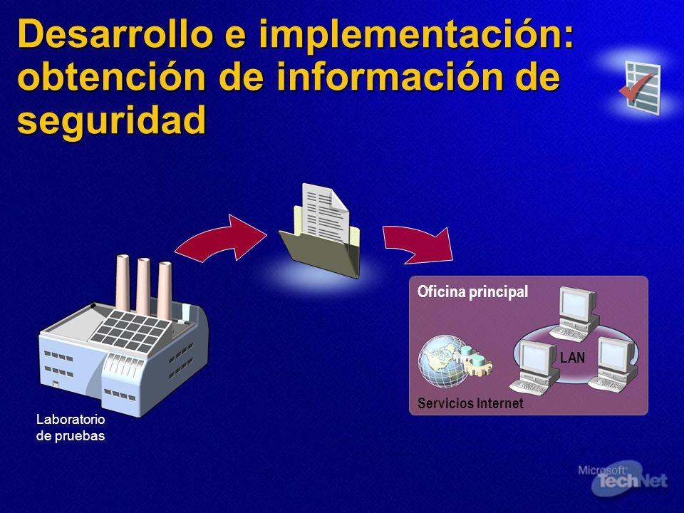 Desarrollo e implementación: obtención de información de seguridad