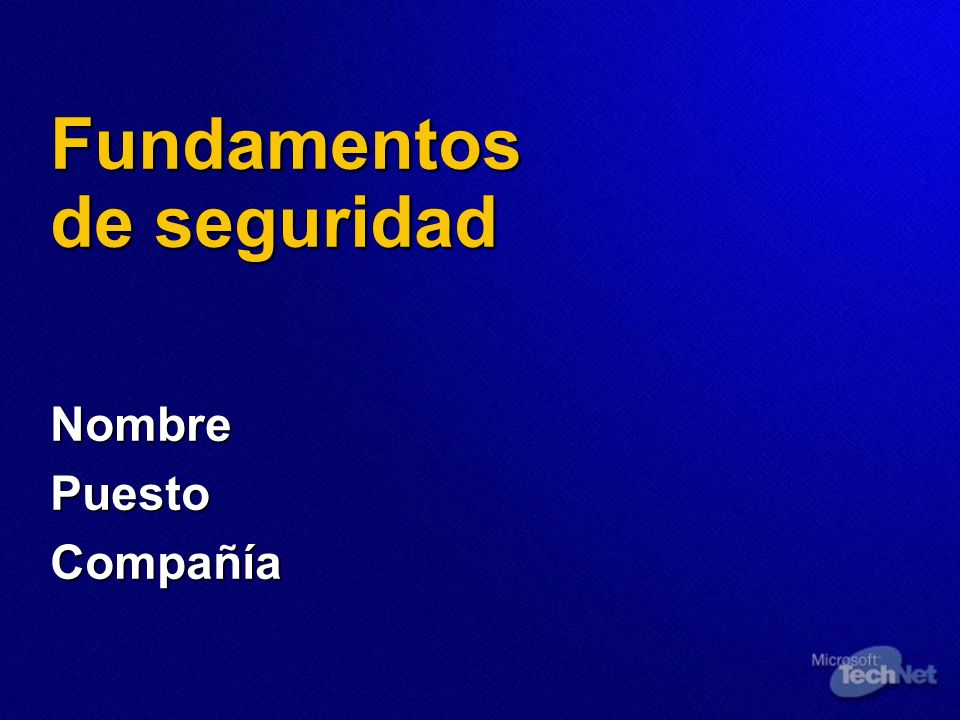 Fundamentos de seguridad