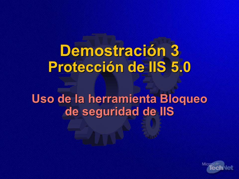 Demostración 3 Protección de IIS 5